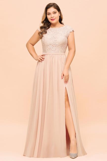 Champagne Brautjungfernkleider Große Größe   Chiffon Kleider Günstig