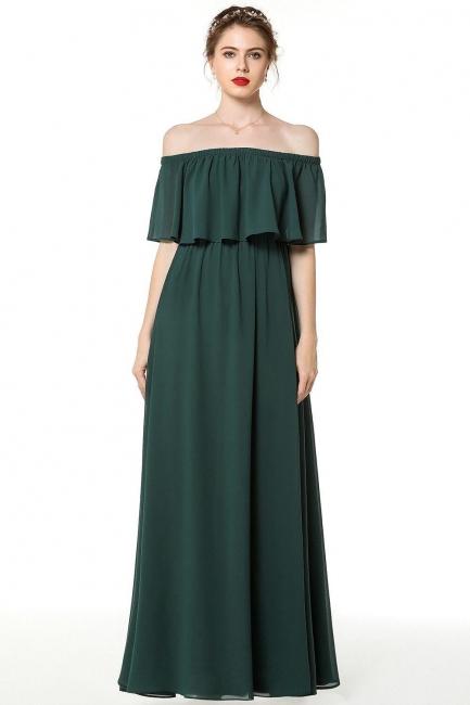 Schönes Abendkleid Lang Rosa   Abiballkleider Online