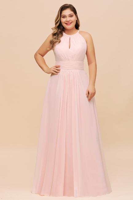Rosa Brautjungfernkleider Große Größe | Chiffon Kleider Partykleider