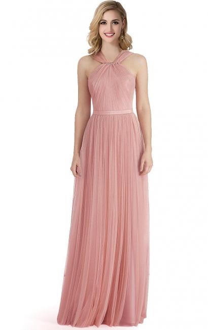 Abendkleid Lang Rosa | Schlichtes Abiballkleid Günstig