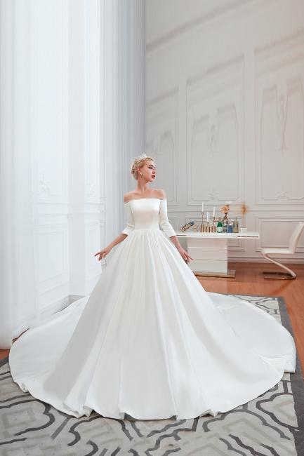 Brautkleider A Linie | Schlichte Hhochzeitskleid Standesamt