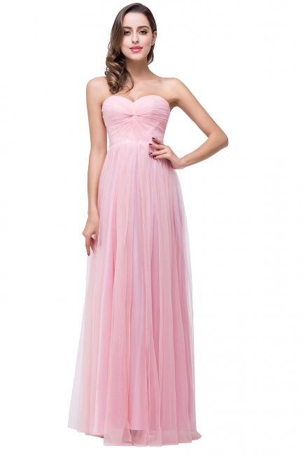 Schlichte Abiballkleider | Abendkleid Lang Rosa