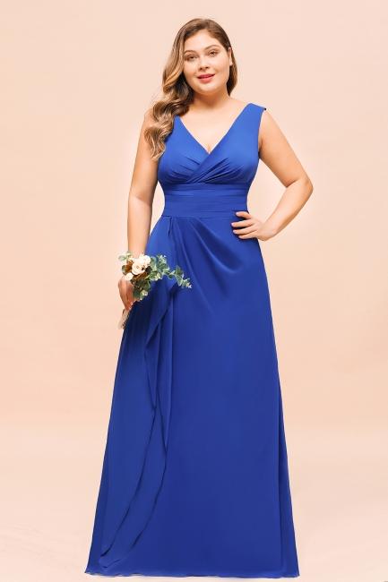 Brautjungfernkleider Große Größe | Brautjungfernkleid Lang König Blau