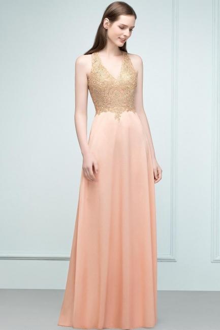 Abendkleider Lang V Ausschnitt   Abiballkleider mit Glitzer