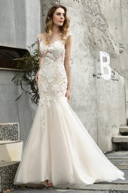 Elegante Hochzeitskleider Standesamt | Brautkleid Meerjungfrau