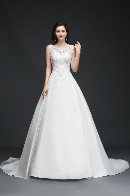 Schlichtes Brautkleid Satin | Prinzessin Hochzeitskleider Günstig