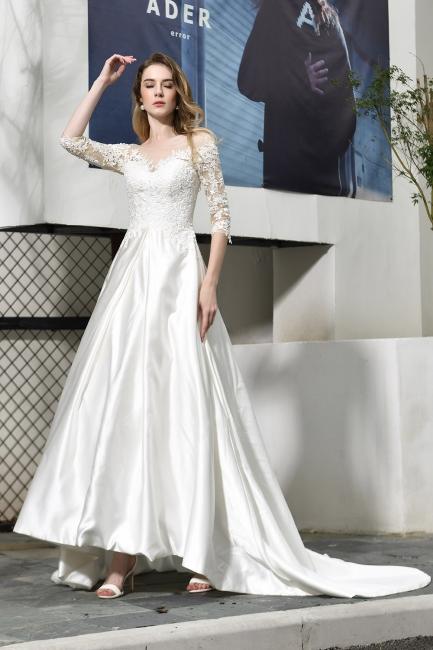 Elegante Brautkleid A linie | Hochzeitskleider Standesamt