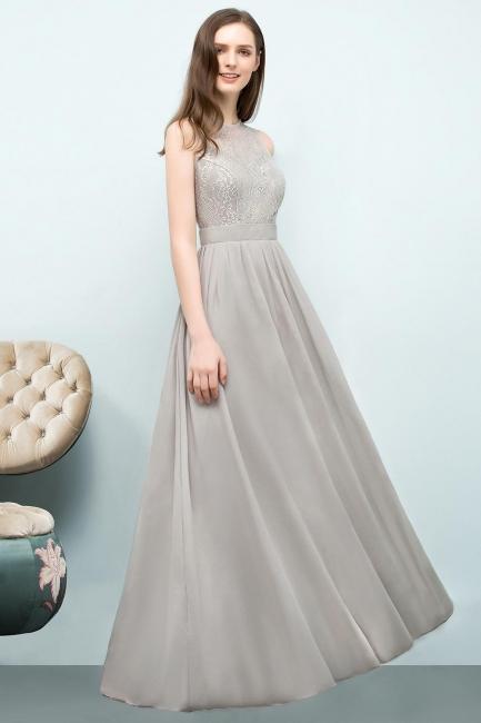Silber Abendkleider Lang Chiffon | Abendmoden Online