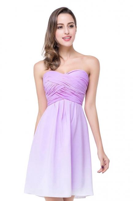 Lavender Cocktailkleider kurz   Schlichtes Abendkleid Online