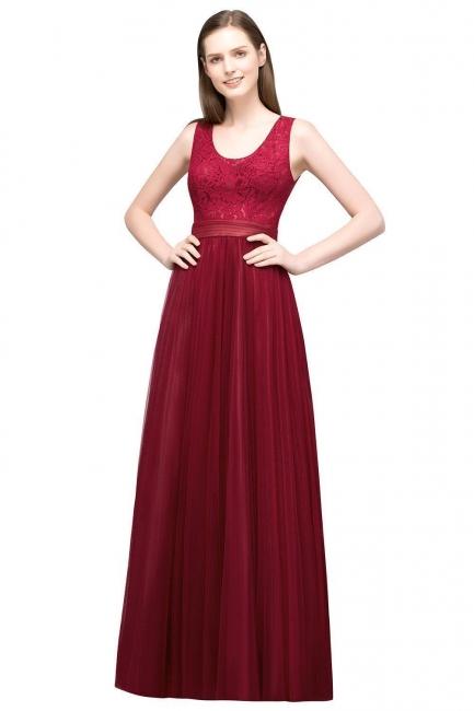 Abendkleider Lang Rot   Schlichtes Abiballkleider