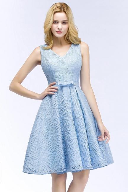 Blaue Cocktailkleider Kurz   Abendkleider V Ausschnitt