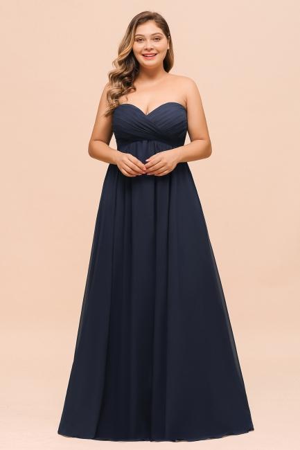 Blaues Bruatjungfernkleid Lang Günstig | Brautjungfernkleider Große Größe