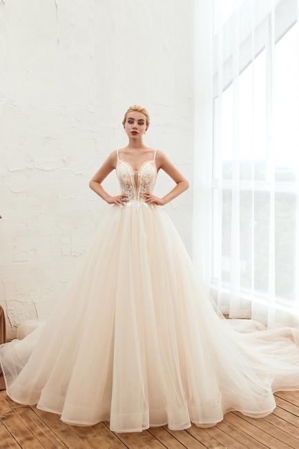 Elegante Hochzeitskleid A Linie   Standesamt Brautkleid