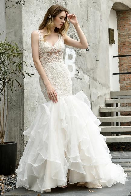 Kleid Standesamt   Brautkleid Meerjungfrau mit Spitze