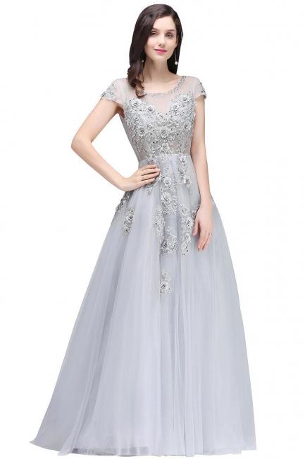Silber Abendkleider Lang Günstig   Abiballkleider Online