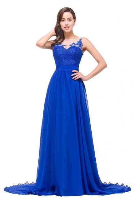 Abendkleider Lang V Ausschnitt   Abiballkleider Blau