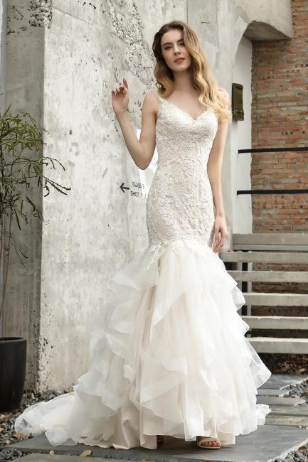 Brautkleider Meerjungfreu   Hochzeitskleid mit Spitze