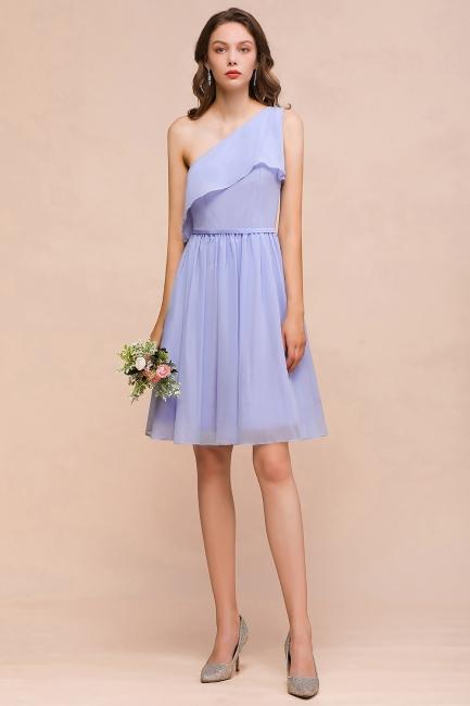 Lavender Brautjungfernkleider Kurz | Chiffon Kleider Günstig