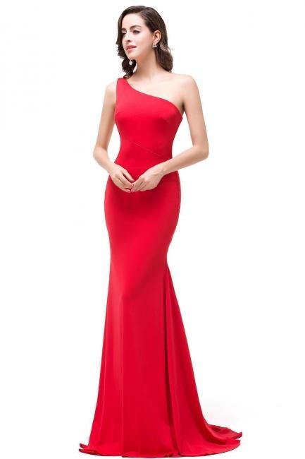 Abendkleid Lang Rot   Schlichtes Abiballkleid Günstig