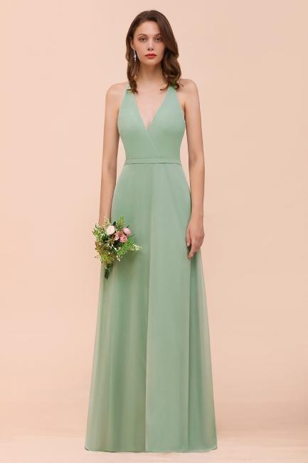 Brautjungfernkleider Mint Günstig | Schlichtes Abendkleid Lang