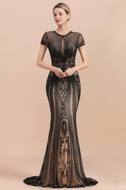 Elegante Abendkleider Lang Schwarz   Abendmoden Online
