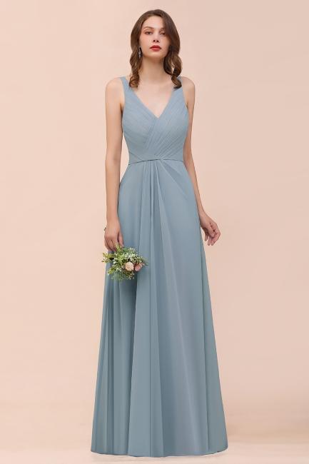 Brautjungfernkleider Heller Blau | Chiffon Kleider Für Brautjungfern