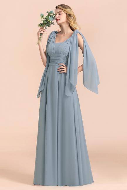 Sheer Brautjungfernkleider Lang Blau | Kleider Hochzeitsparty