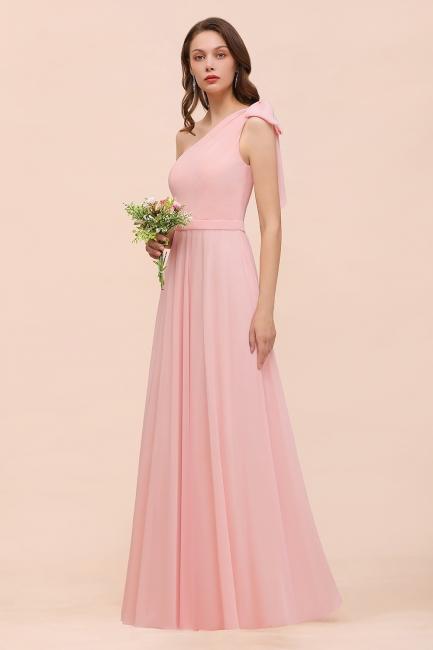 Brautjungfernkleider Lang Rosa   Chiffon Kleider Online