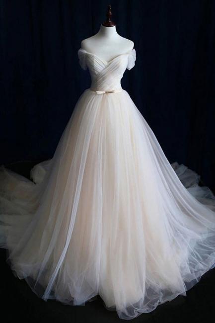 Schlichte Brautkleid Tüll | Hochzeitskleid  A Linie Online