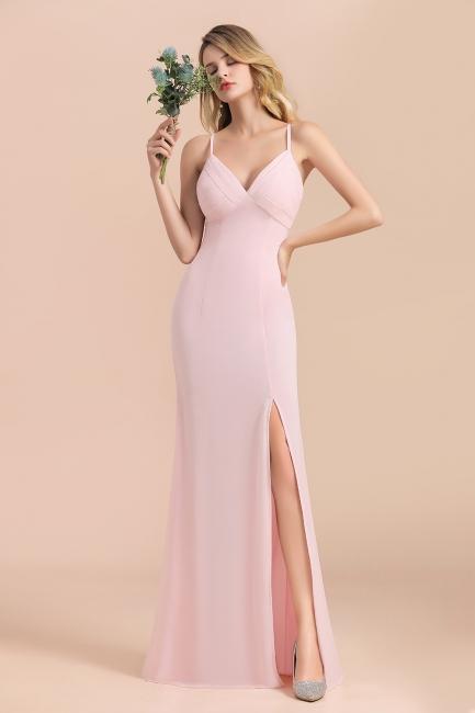 Rosa Brautjungfernkleider Lang Chiffon | Abendmoden Online