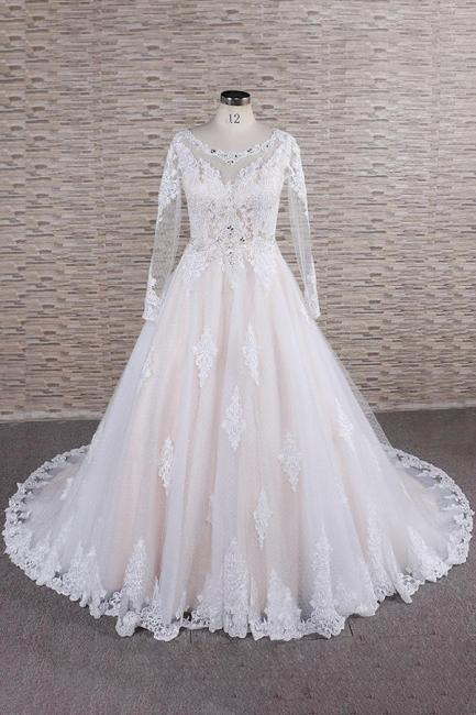 Designer Brautkleid A Linie | Hochzeitskleid mit Ärmel