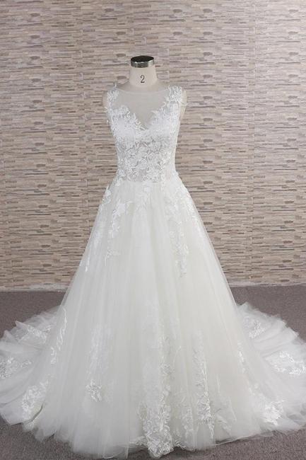 Modern Hochzeitskleider Mit Spitze | Brautkleid A Linie