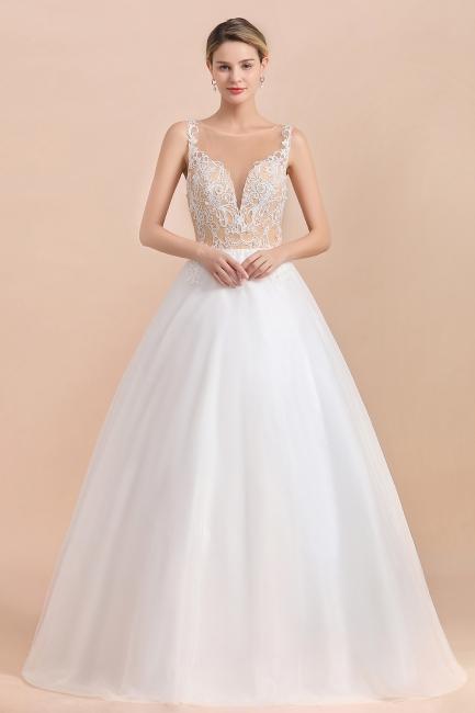 Schlichte Hochzeitskleider A Linie | Brautkleid Umstandsmode