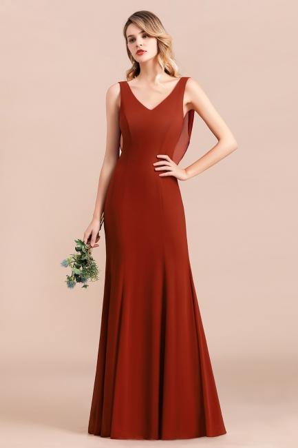 Brautjungfernkleider Lang Rot | Hochzeitspartykleider Günstig