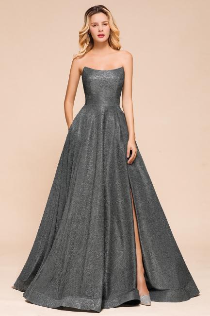 Schlichte Abendkleider Lang Glitzer | Festliches Kleid