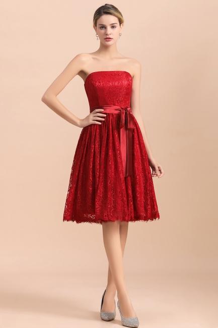 Brautjungfernkleid Kurz Rot | Schöne Brautjungfernkleider Günstig
