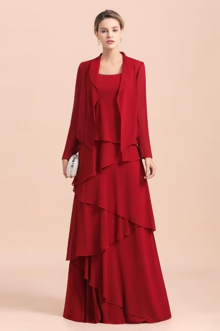 Rote Brautmutterkleider Mit Jacket   Kleider Für Brautmutter