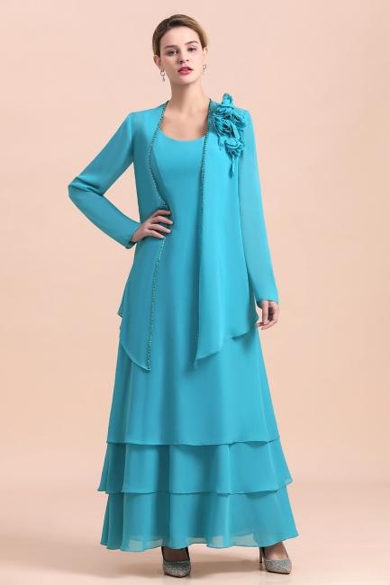 Blaue Brautmutterkleider Mit Jacket   Brautmutter Suit Günstig