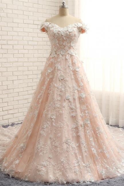 Günstige Hochzeitskleider A Linie | Brautkleider Spitze