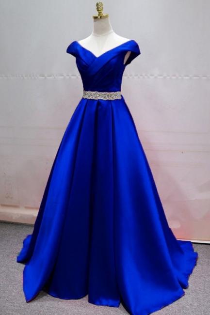Designer Abendkleider König Blau   Abiballkleider Lang Günstig
