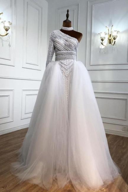 Weiße Abendkleider Mit Ärmel | Abiballkleider Lang Günstig