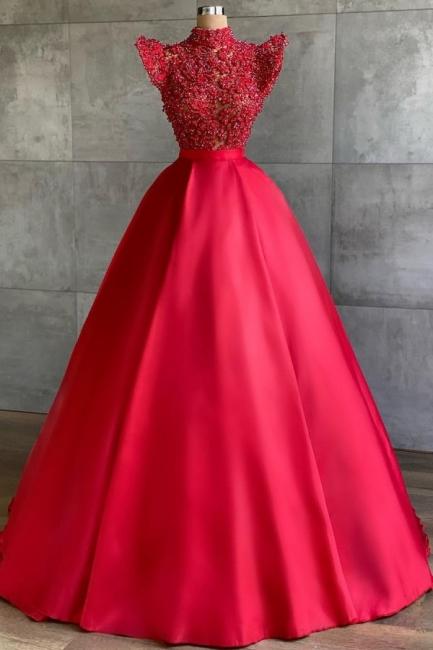 Designer Abendkleider Lang Rot | Abiballkleider Günstig