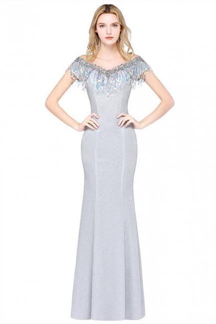 Silber Abendkleider Lang Günstig | Abiballkleider Online Kaufen