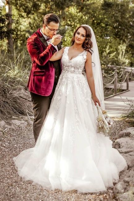 Elegante Hochzeitskleider A Linie Spitze   Brautkleider Günstig Kaufen