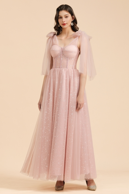 Elegante Abendkleider Lang Rosa | Abiballkleider Günstig