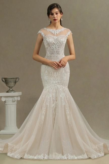 Schöne Hochzeitskleid Meerjungfrau   Brautkleider Spitze Günstig