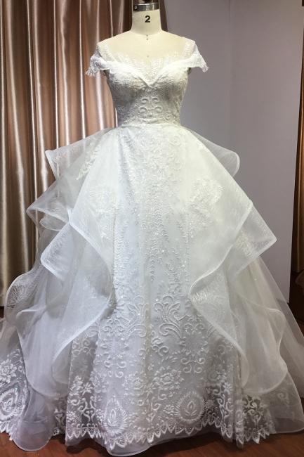 Brautkleider A Linie Günstig | Hochzeitskleider mit Spitze