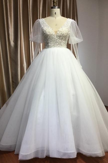 Fashion Brautkleider A Linie | Hochzeitskleider mit Ärmel