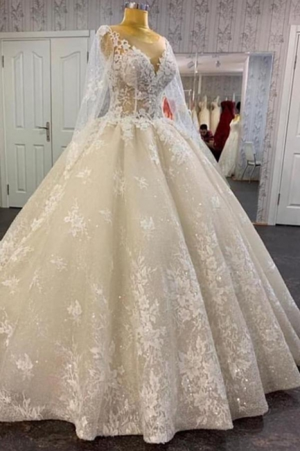Wunderschöne Hochzeitskleider mit Ärmel | Brautkleider Spitze