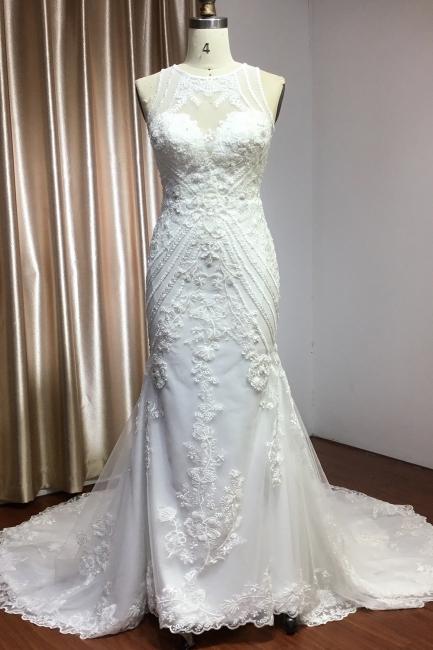 Elegante Brautkleider Meerjungfrau | Spitze Hochzeitskleider Günstig